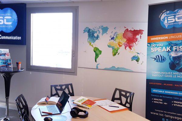 salle de classe langue